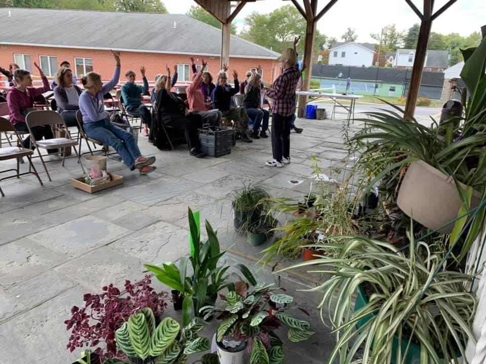 THC members meet at the plant swap