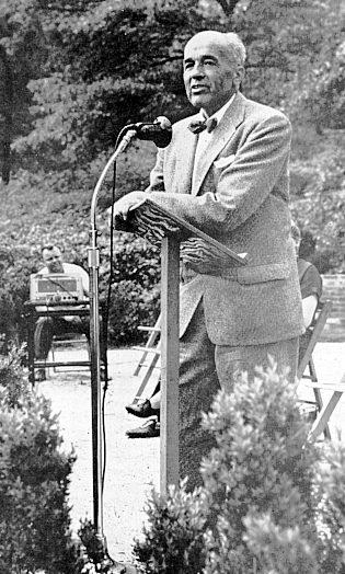 B.Y. Morrison in 1954 at the National Arboretum dedication